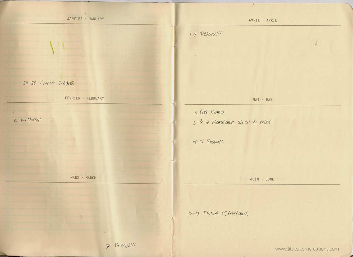 Rhodia Goalbook sample pages