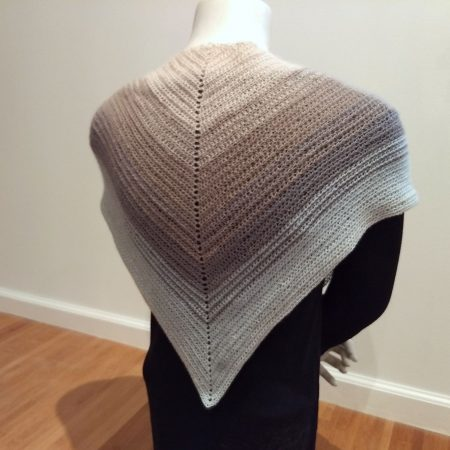 Artyarns Crochet Triangle Scarf, shown in Blues