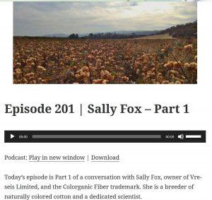 YarnStories Podcast Episode 201, Sally Fox, Part 1