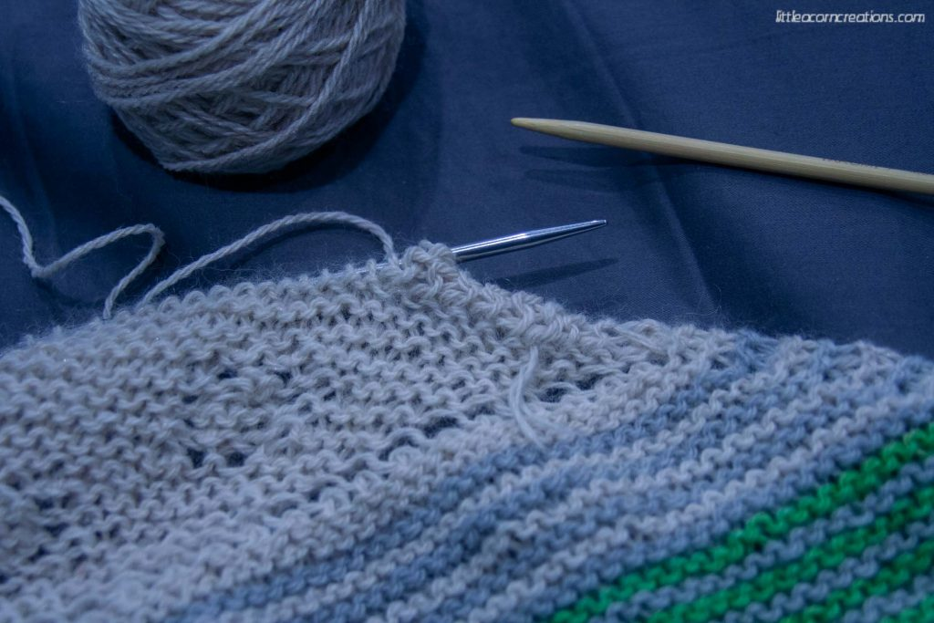 reknitting the reverse i-cord bind-off for the High Sierra Shawl.