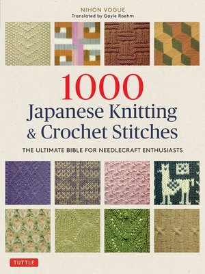 Book cover - 1000 Japanese Knitting & Crochet Stitches