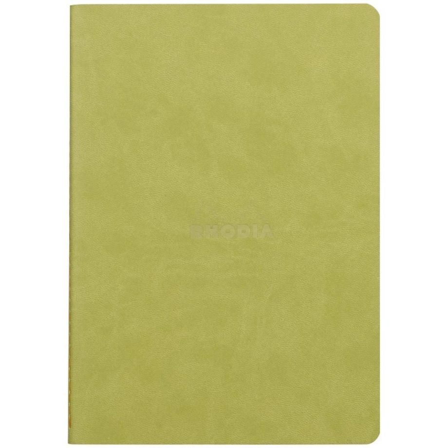 Rhodia Rhodiarama Sewn Spine Notebook, Anise Cover