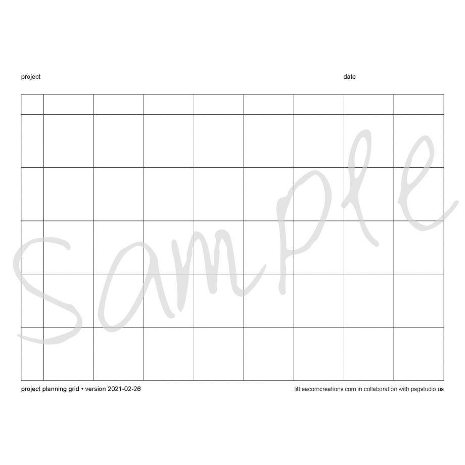 blank sample of planning grid