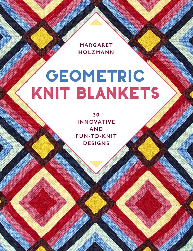 book cover - geometric knit blankets